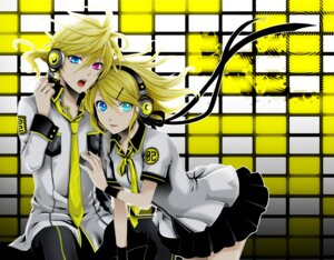 Rating: Safe Score: 25 Tags: headphones heterochromia kagamine_len kagamine_rin vocaloid wool User: charunetra