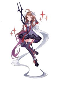 Rating: Safe Score: 12 Tags: animal_ears arknights dress horns mo_si_(z1216150815) stockings tagme thighhighs weapon User: Dreista