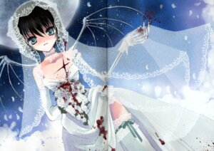 Rating: Questionable Score: 16 Tags: blood crease dress rami wedding_dress User: hugo_victor