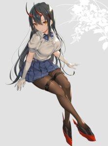 Rating: Safe Score: 86 Tags: azur_lane garter horns ikomochi pantyhose seifuku suzuya_(azur_lane) User: BattlequeenYume