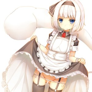 Rating: Questionable Score: 55 Tags: if konpaku_youmu loli maid pantsu panty_pull skirt_lift stockings string_panties thighhighs touhou User: Mr_GT