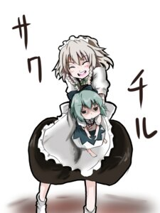 Rating: Safe Score: 4 Tags: cirno izayoi_sakuya maid touhou wakie User: konstargirl
