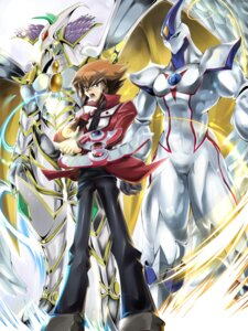 Rating: Safe Score: 8 Tags: ari_(amway) elemental_hero_neos male monster rainbow_neos yugioh yugioh_gx yuki_judai User: vistaspl