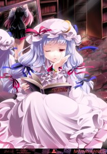 Rating: Safe Score: 18 Tags: koakuma namamo_nanase patchouli_knowledge touhou wings User: hobbito