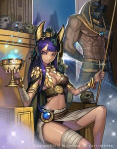 Rating: Safe Score: 32 Tags: animal_ears anubis bandages cleavage kim_jin_sung no_bra pantsu User: Mr_GT