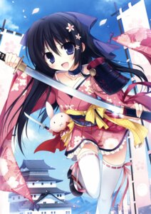 Rating: Safe Score: 91 Tags: karory kimono sword thighhighs User: Twinsenzw