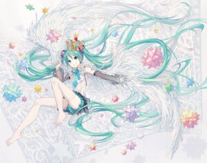 Rating: Safe Score: 44 Tags: feet hatsune_miku ixima tattoo thighhighs vocaloid User: RyuZU