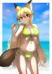 Rating: Safe Score: 12 Tags: animal_ears bikini cleavage ezo_red_fox kemono_friends kitsune swimsuits tail thin_(suzuneya) User: dick_dickinson