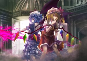 Rating: Safe Score: 10 Tags: dress flandre_scarlet remilia_scarlet takakyo touhou wings User: Radioactive