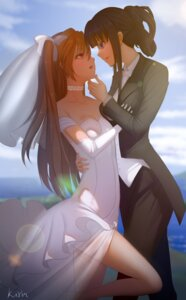Rating: Questionable Score: 28 Tags: baliu cleavage crossdress dress ogiso_setsuna see_through touma_kazusa wedding_dress white_album yuri User: sylver650