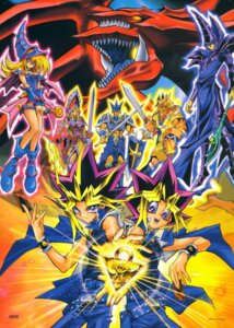 Rating: Safe Score: 10 Tags: armor cleavage dark_magician dark_magician_girl jack's_knight king's_knight monster mutou_yuugi osiris_the_sky_dragon queen's_knight sword wings yami_yuugi yugioh User: charunetra