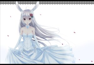Rating: Safe Score: 26 Tags: animal_ears bunny_ears cleavage dress second_heaven wedding_dress User: 椎名深夏