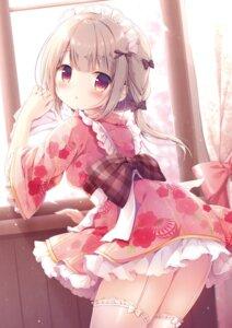 Rating: Questionable Score: 40 Tags: maid miyasaka_nako stockings thighhighs wa_maid User: Twinsenzw
