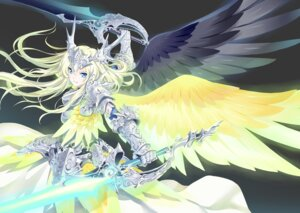 Rating: Safe Score: 32 Tags: armor kousaki_rui sword wings User: fairyren