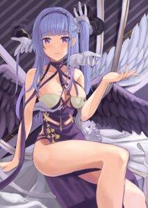 Rating: Questionable Score: 14 Tags: azur_lane chinadress dido_(azur_lane) no_bra shaketarako wings User: BattlequeenYume