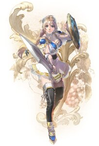 Rating: Questionable Score: 30 Tags: armor cleavage kawano_takuji no_bra sophitia_alexandra soul_calibur soul_calibur_vi sword thighhighs User: Yokaiou