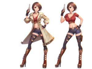 Rating: Safe Score: 14 Tags: cleavage garter gun heels jurrig thighhighs wallpaper User: Dreista
