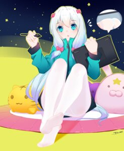 Rating: Safe Score: 35 Tags: dreamcatcher eromanga-sensei feet izumi_sagiri pantsu pantyhose shimapan User: Mr_GT