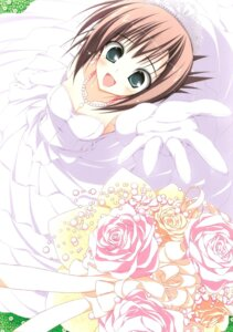 Rating: Safe Score: 33 Tags: dress jpeg_artifacts scanning_dust subarashiki_hibi suzuri tachibana_kimika tennenseki wedding_dress User: Radioactive