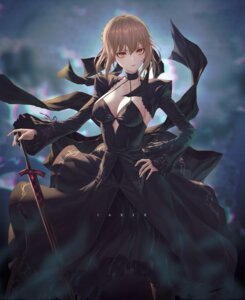 Rating: Questionable Score: 35 Tags: cleavage dress fate/grand_order saber saber_alter sword und0 User: Mr_GT