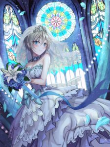 Rating: Safe Score: 37 Tags: anastasia_(idolm@ster) cleavage dress rum_raisin the_idolm@ster the_idolm@ster_cinderella_girls wedding_dress User: Mr_GT