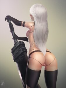Rating: Explicit Score: 59 Tags: anus ass garter_belt mecha_musume naked nier_automata pussy stockings sword themaestronoob thighhighs uncensored yorha_type_a_no._2 User: Spidey
