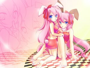 Rating: Safe Score: 9 Tags: animal_ears bunny_ears haru_aki megurine_luka vocaloid yuri User: charunetra