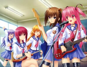 Rating: Safe Score: 51 Tags: angel_beats! garter guitar hisako irie_(angel_beats!) iwasawa na-ga seifuku sekine yui_(angel_beats!) User: Radioactive