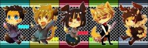 Rating: Safe Score: 3 Tags: animal_ears durarara!! heiwajima_shizuo kida_masaomi kuroyuzu megane orihara_izaya ryuugamine_mikado seifuku sonohara_anri tail User: Radioactive