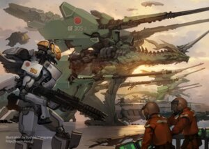 Rating: Safe Score: 28 Tags: gun mecha monster takayama_toshiaki User: Radioactive