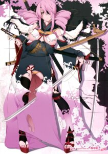 Rating: Questionable Score: 47 Tags: eyepatch kimono nanao pantsu sword thighhighs torn_clothes underboob User: Hatsukoi