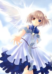 Rating: Safe Score: 11 Tags: dress heterochromia naruse_chisato tenbatsu_angel_rabbie wings User: Radioactive