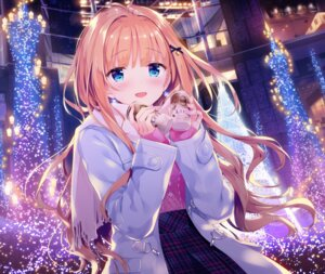 Rating: Safe Score: 98 Tags: christmas date_situation_zukan kimishima_ao saijo_melia sweater User: fairyren