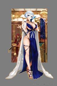 Rating: Questionable Score: 30 Tags: apt dress garter heels koku_no_ishtaria no_bra nopan User: Mr_GT