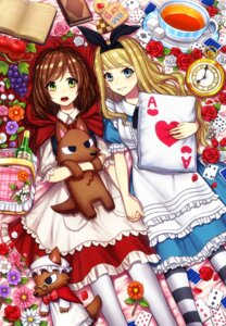 Rating: Safe Score: 14 Tags: alice alice_in_wonderland crossover dress kiritani846 little_red_riding_hood_(character) pantyhose User: Mr_GT