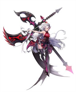 Rating: Safe Score: 25 Tags: cleavage dress pointy_ears sindy thighhighs weapon User: nphuongsun93