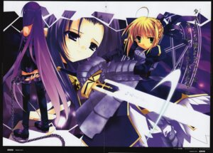 Rating: Safe Score: 6 Tags: caster fate/stay_night minazuki_haruka rider saber User: petopeto