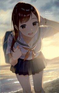 Rating: Safe Score: 78 Tags: canvas_(morikura_en) cleavage morikura_en see_through seifuku User: NotRadioactiveHonest