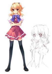 Rating: Safe Score: 23 Tags: flyable_heart ito_noizi seifuku sketch sumeragi_amane thighhighs User: fireattack