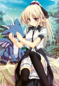 Rating: Questionable Score: 51 Tags: elf pantsu pointy_ears tenmaso thighhighs User: Kalafina