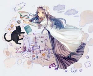 Rating: Safe Score: 23 Tags: bou_shaku neko patchouli_knowledge touhou User: fireattack