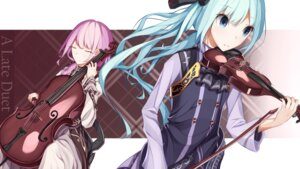 Rating: Safe Score: 21 Tags: atha hatsune_miku megurine_luka vocaloid wallpaper User: freefive