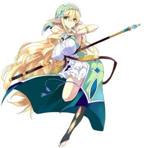 Rating: Safe Score: 50 Tags: brave_girl_ravens elf feet garter kurokawa_izumi pointy_ears stephany_ferel thighhighs weapon User: zyll