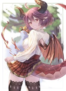 Rating: Safe Score: 14 Tags: grea_(shingeki_no_bahamut) horns manaria_friends monster_girl pointy_ears skirt_lift tagme tail thighhighs wings User: dick_dickinson