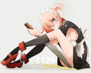 Rating: Questionable Score: 56 Tags: breasts cream maid nipples takagi_(tansuke) tansuke thighhighs User: Zenex