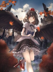 Rating: Safe Score: 21 Tags: maachi_(fsam4547) pointy_ears shameimaru_aya touhou wings User: birdy73