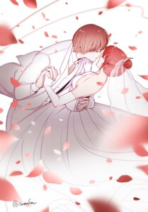 Rating: Safe Score: 8 Tags: dress gintama kagura male maosen okita_sougo wedding_dress User: charunetra