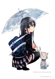 Rating: Safe Score: 16 Tags: neko ponkan_8 seifuku thighhighs umbrella yahari_ore_no_seishun_lovecome_wa_machigatteiru. User: fireattack