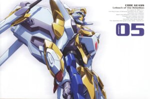 Rating: Safe Score: 8 Tags: code_geass disc_cover mecha nakada_eiji User: Radioactive