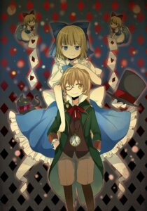 Rating: Safe Score: 10 Tags: alice_in_wonderland alice_margatroid cosplay hourai kirisame_marisa pun2 touhou User: Nekotsúh